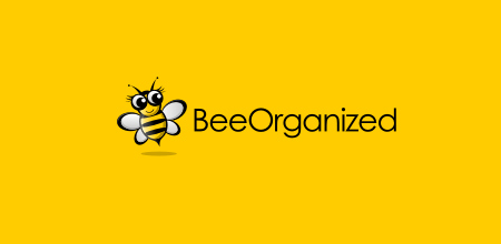 bee organized creative logo