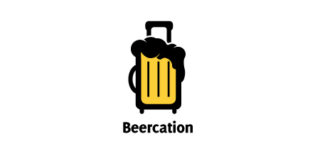 beercation yellow Creative logo