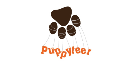 dog logo design puppyteer logo