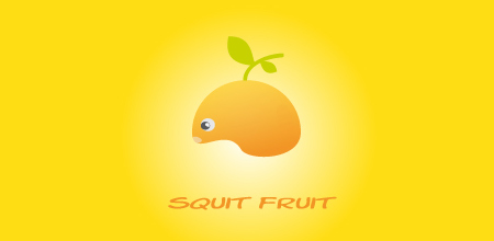 squit fruit yellow Creative logo