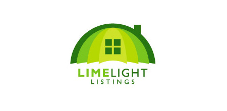 limelight listings Green logo design