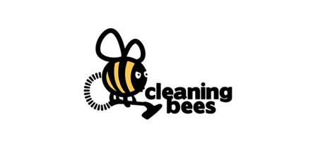 cleaning bees creative logo