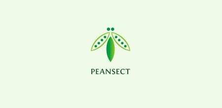 peansect Green logo design