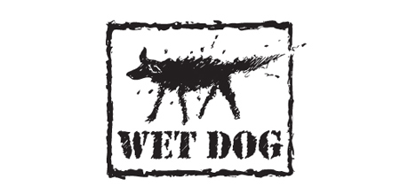 dog logo design wet dog logo