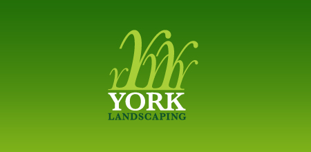 York landscaping Green logo design