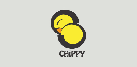 chippy yellow Creative logo