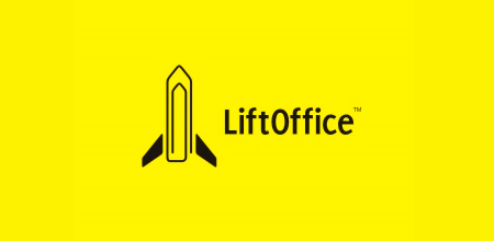 lift office yellow Creative logo
