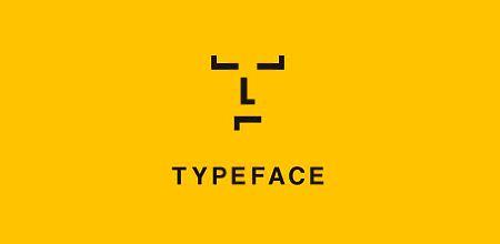 type-face yellow Creative logo