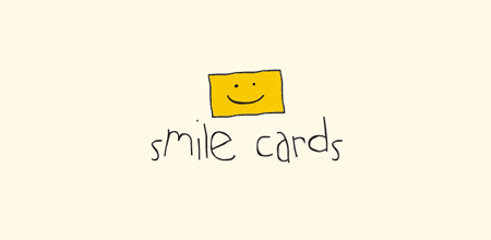 smile cards yellow Creative logo