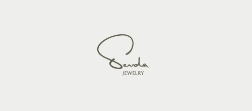Elegant Signature Logo Designs Sevda Jewelry
