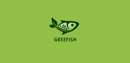 greefish Green logo design