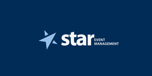 Logo Design star event management logo design