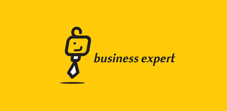 Business expert yellow Creative logo