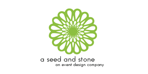 Logo Design A Seed And Stone