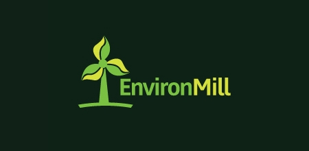 environmill Green logo design