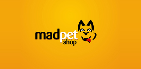 mad pet shop Creative logo