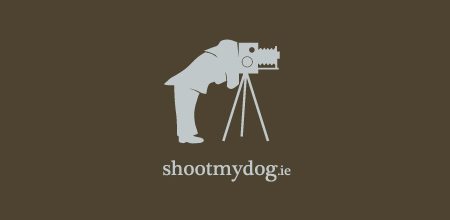 dog logo design shoot my dog