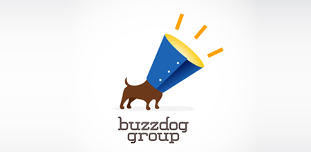 dog logo design buzz dog logo