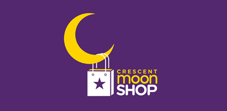 crescent moon Creative logo