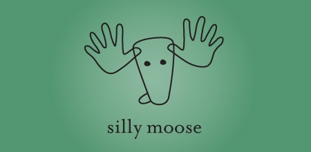 silly moose Green logo design