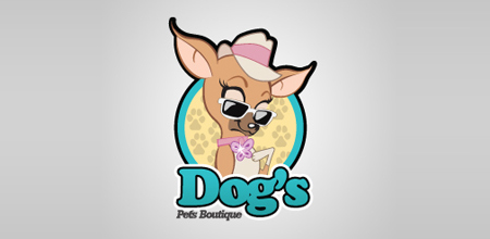 dog logo design dog's logo