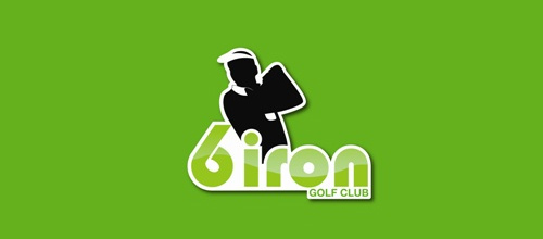 Masculine Logo Designs 6 iron golf club