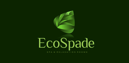 ecospade Green logo design