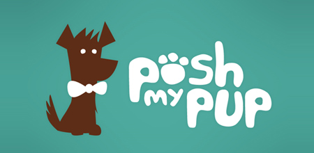dog logo design posh my pup