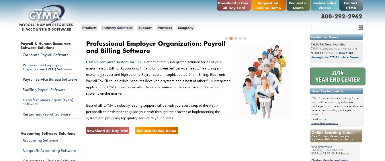 Accounting Software I Payroll Software I CYMA_com