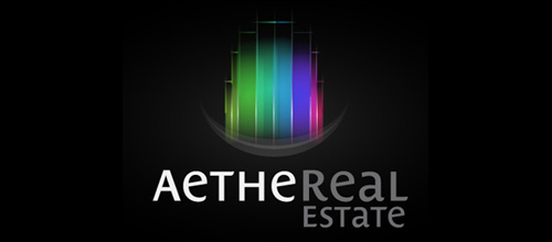 Multicolor Logo Designs AetheReal Estate