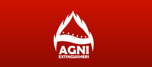 Hot Burning And Fire Logo Design Agni Extinguishers