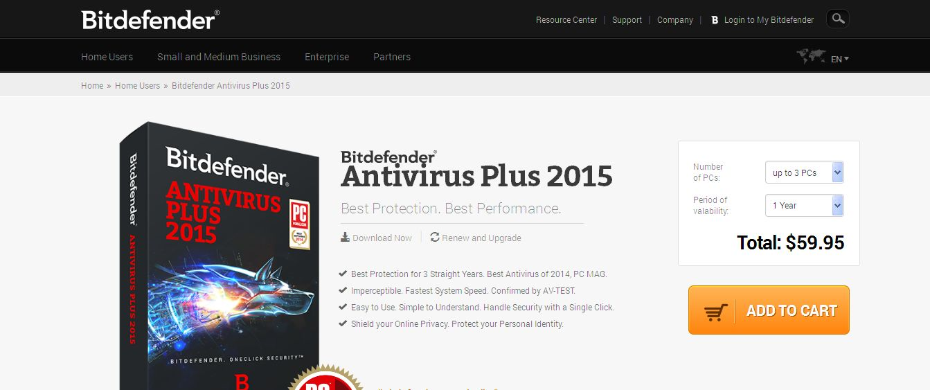 Best Antivirus for Windows - Bitdefender Antivirus Plus 2015
