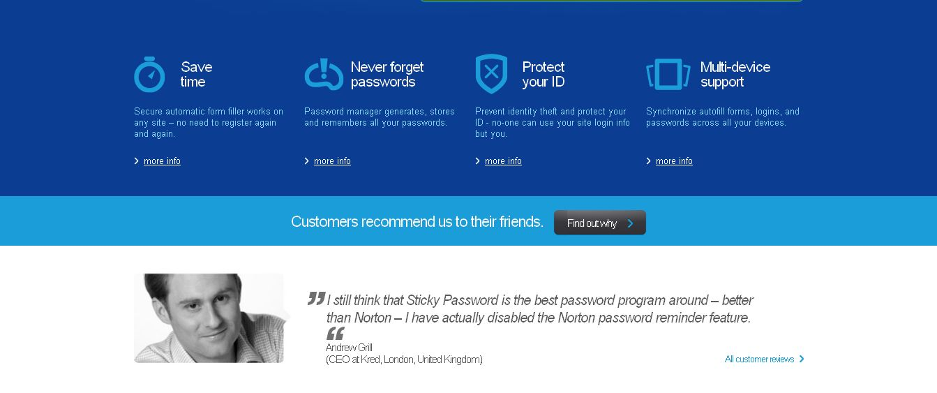 Best Password Manager, 1 click Form Filler, Cloud, Android, iOS Password Manager _ Sticky Password