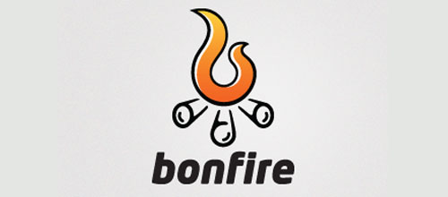 Hot Burning And Fire Logo Design Bonfire