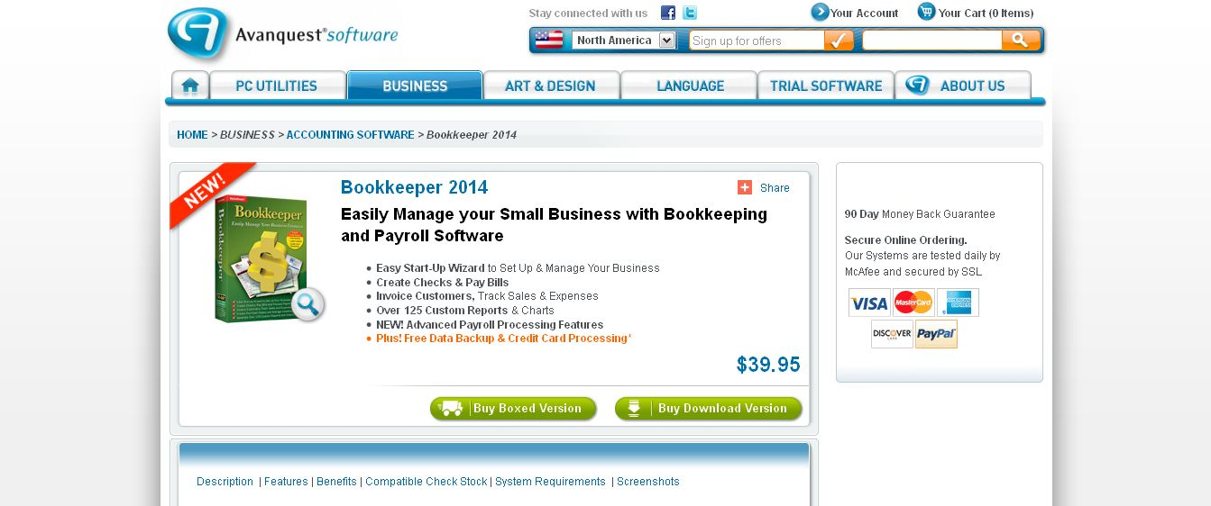 Bookkeeper I Bookkeeping Software I Avanquest