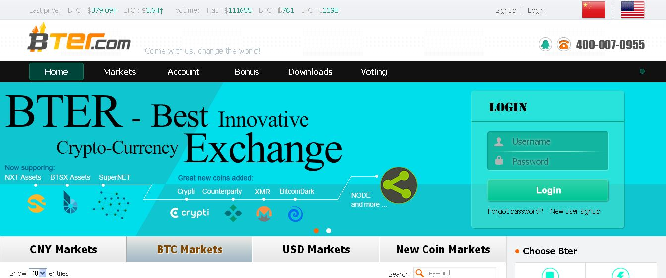 Bter_com - Bitcoin and Crypto-currency Exchange Platform