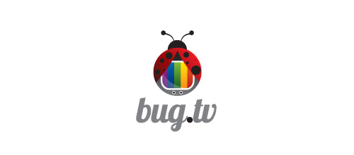Multicolor Logo Designs Bug TV
