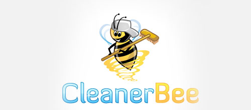 logo design Cleaner Bee