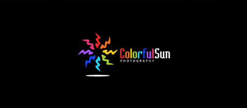 Multicolor Logo Designs Colorful Sun