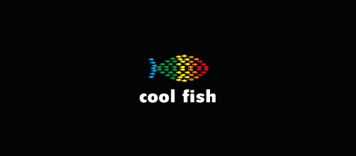 Multicolor Logo Designs Cool Fish