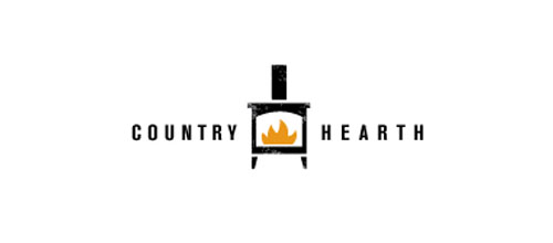 Hot Burning And Fire Logo Design Country Hearth