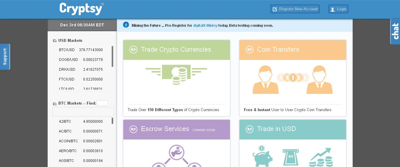 Cryptsy - Trade Home