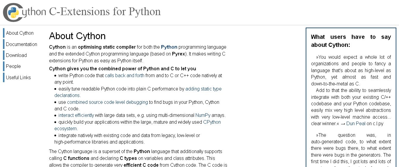 Cython_ C-Extensions for Python