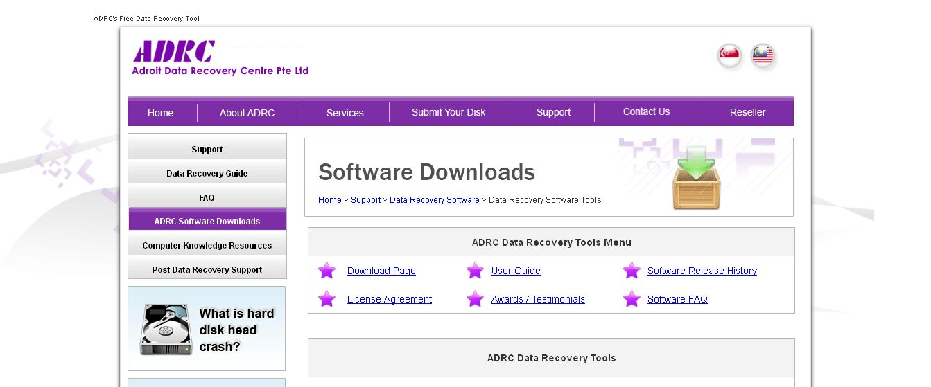 Data Recovery Software by ADRC