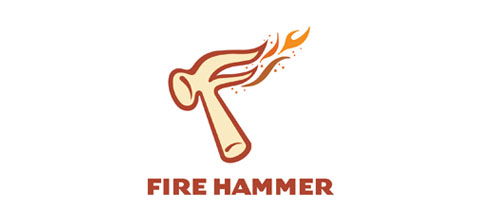 Hot Burning And Fire Logo Design Fire Hammer