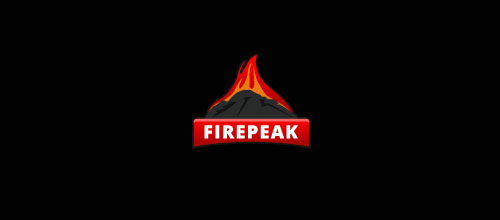 Hot Burning And Fire Logo Design Fire Peak
