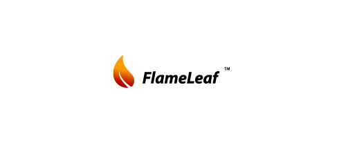 Hot Burning And Fire Logo Design FlameLeaf