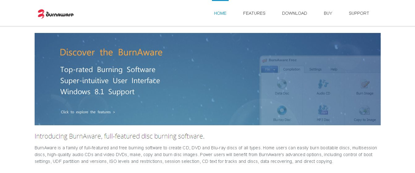 Free Burning Software and DVD Copying Software - BurnAware