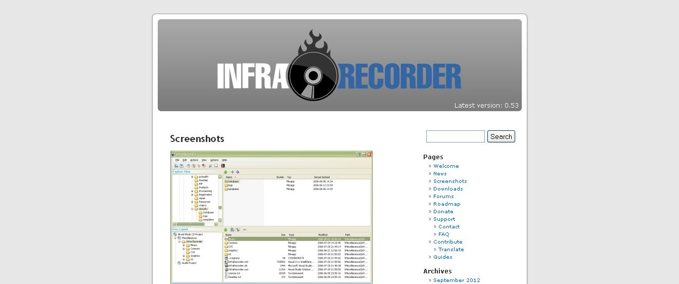 InfraRecorder Free CD and DVD software