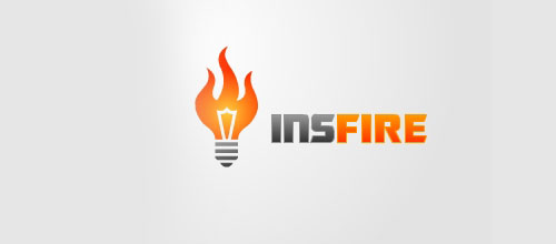Hot Burning And Fire Logo Design Insfire